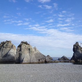 Beauty of white rocks
