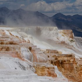 Mammoth Hot Springs - travertine terrace