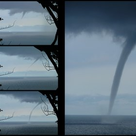 Formation of a waterspout