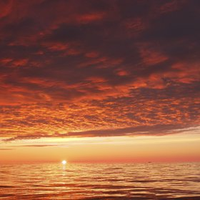 Sunset over the Labrador Sea