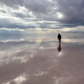Cloudy Water of the Salt Lake