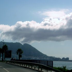 Orographic cloud at the Rock of Gibraltar