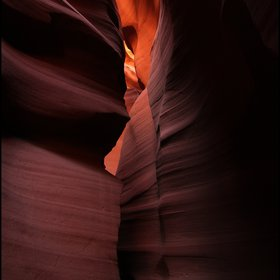 Waved rocks of Antelope slot canyon - Page, Arizona
