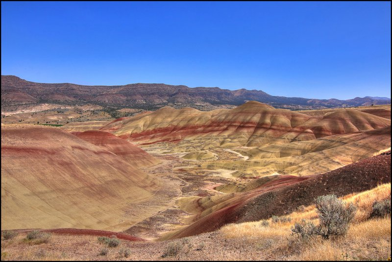 Painted hills - John Day Fossil Beds National Monument - east-central Oregon