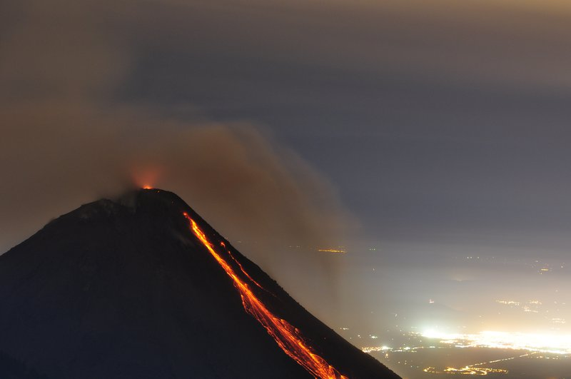 The glow of Colima, Mexico