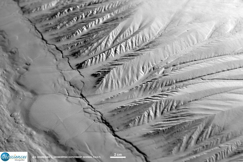 Geomorphic analog experiment (Normal Fault)