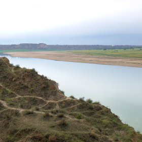 Chambal River badlands