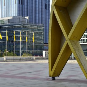 View from the entrance to the Austria Center Vienna during the EGU 2015 General Assembly