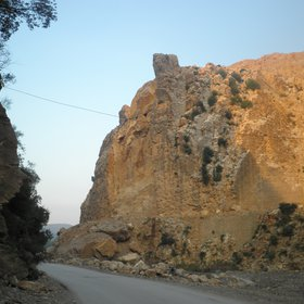 Rock fall at hammam Melouane