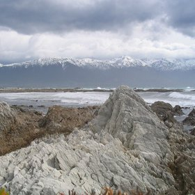 Kaikoura during a stormy day