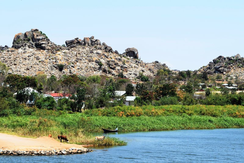 Granite Formations  and Lake Victoria