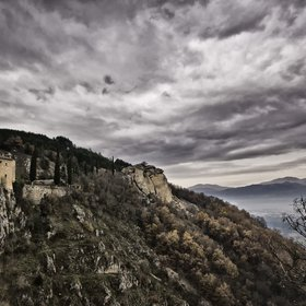 Cloudy-day above the monastery