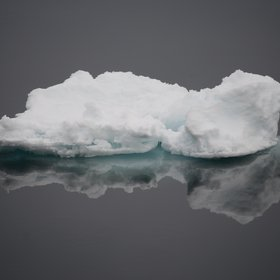 Floating sea ice