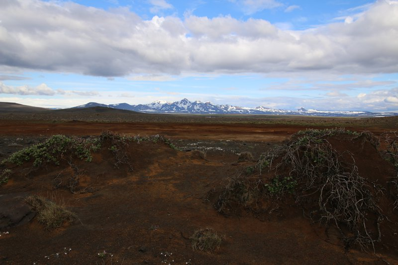 Degraded soil landscape - Iceland