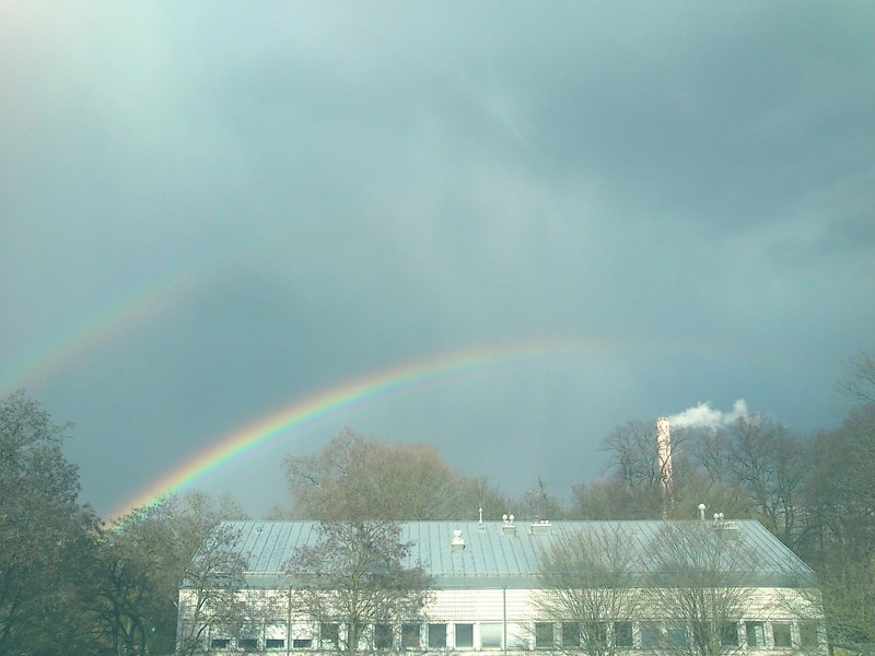 Rainbow showing its double arc