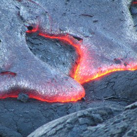 Kilauean lava flows in Hawai'i Volcanoes National Park
