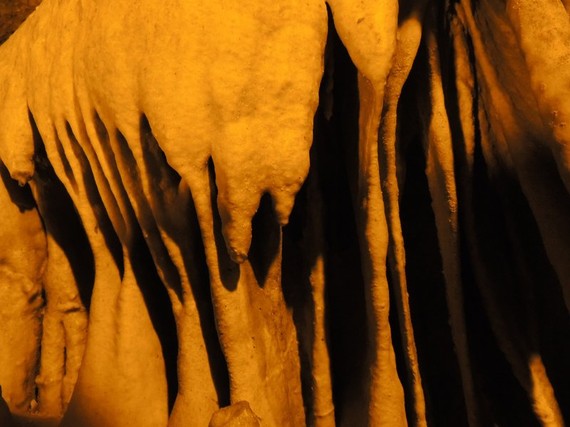 Wonderful formation in Perama cave.
