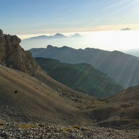 Sunrise by the feet of Triglav