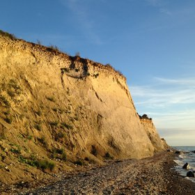 Smiling cliff at baltic sea