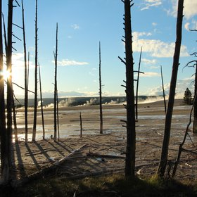 It's really hot in the Yellowstone National Park!