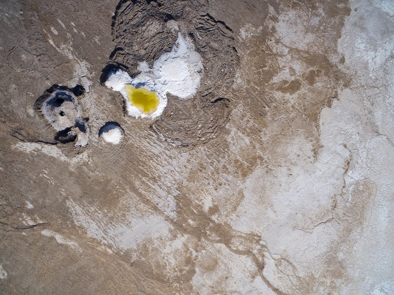 Sulfurous sinkholes at the Dead Sea