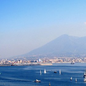The Mt. Vesuvius in blue