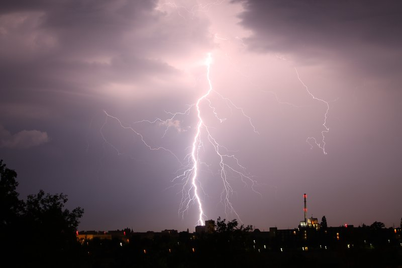Lightning over Karlsruhe