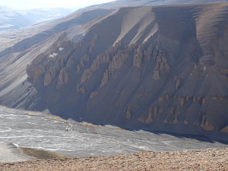 Erosional features on the mountain ranges of leh