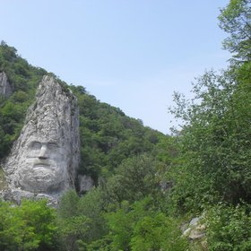 Decebalus' sculpture- Romania