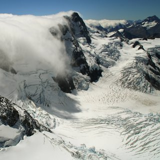 Nor'Wester in the Southern Alps of New Zealand