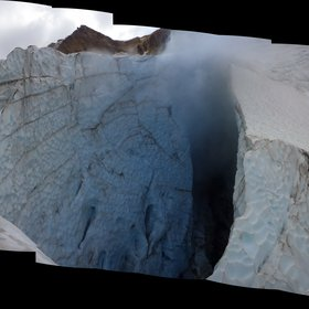 Mount Meager fumarole and the ice cave