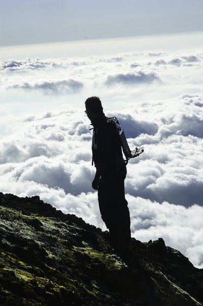 Scientist above the clouds