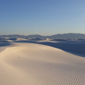 Light and shadow - dune field at White Sands National Monument