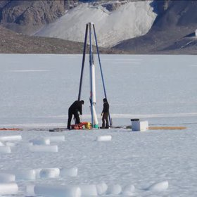 Ice Core Drilling In Antarctica