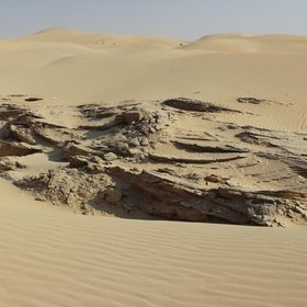 Sandstone in dune field