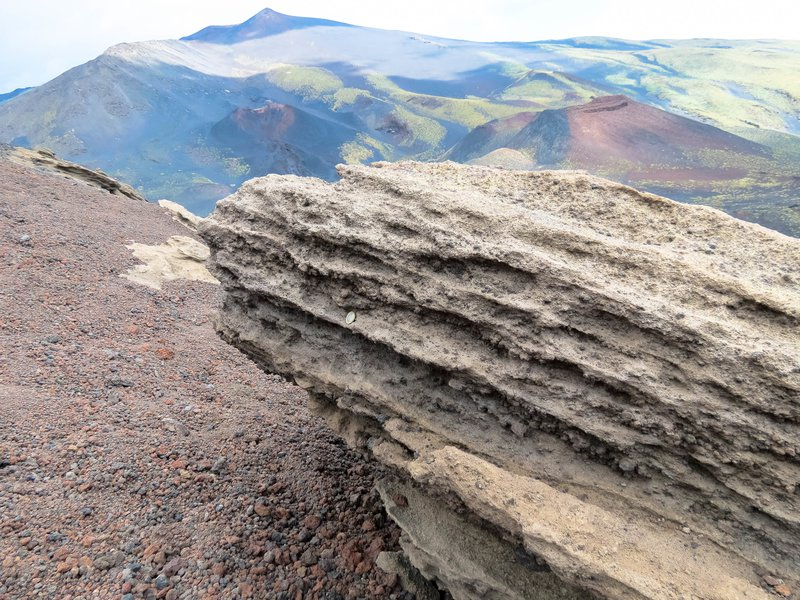Pyroclastic flow deposits on Mount Etna, Sicily
