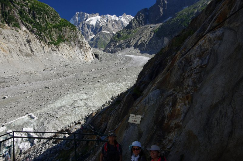 Glacier shrinking before our very eyes