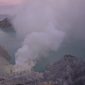 The Crater of Ijen Mount
