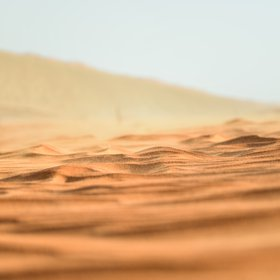 Small-ripples waves of sand dune in the Arabian desert