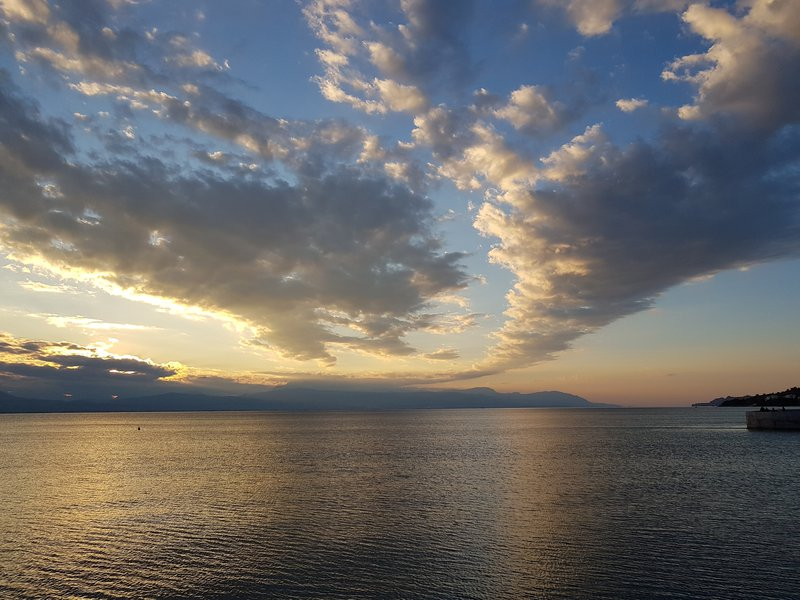 Sunset over the Gulf of Corinth