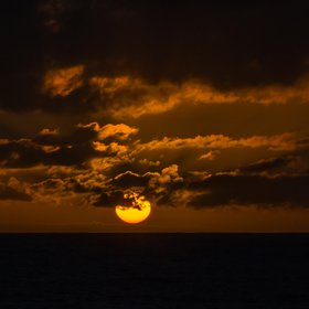 Sunset of the Indian Ocean
