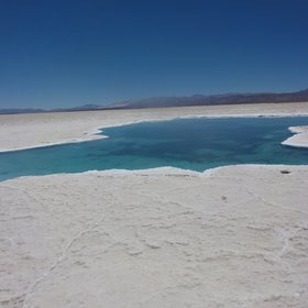 The tranquility in the salar