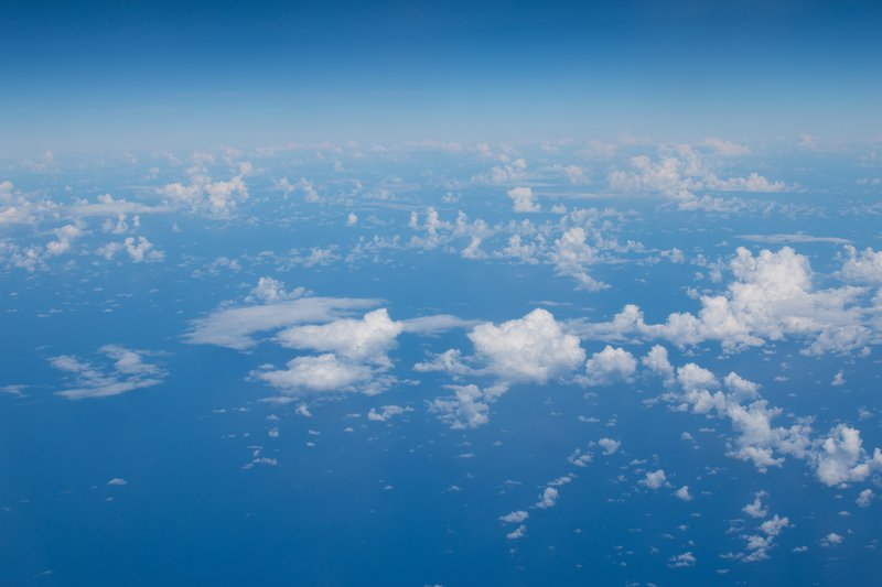 An aerial view of the Indian Ocean