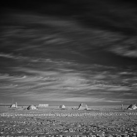 Cirrus over tent-city