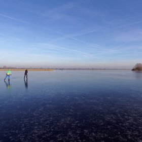 Skating freely in North German Plains