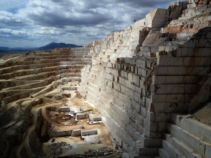 Marble quarry west of Alicante, Spain