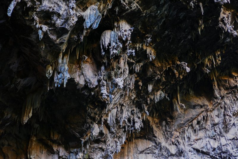 Amazing stalactites in Chonta cavern, Mexico
