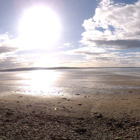 The sun at Dunnet Bay