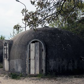 Igloo - emergency houses in San Potito Ultra (Italy), after 1980 earthquake.