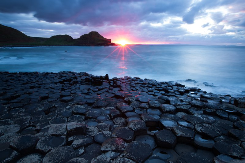 Sunset on The Giant's Causeway